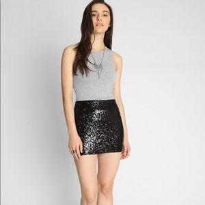 Banana Republic Black Sequin Mini skirt size 4